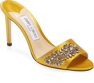Jimmy Choo Stacey Crystal Embellished Slide Sandal
