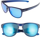 Oakley Women's Sliver(TM) 57Mm Round Sunglasses - Clear Blue/ Sapphire Iridium