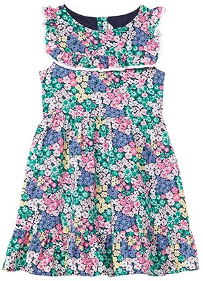 Janie and Jack Floral Dress (Toddler/Little Kids/Big Kids) (Multicolor) Girl's Clothing