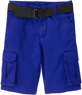 Crazy 8 Pacific Surf Blue Belted Cargo Shorts - Boys