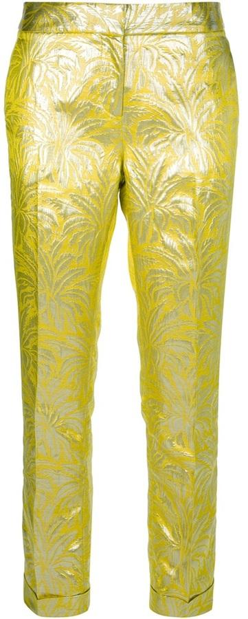 Tory Burch Metallic patterned trouser