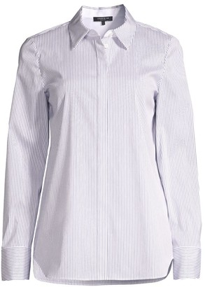 Lafayette 148 New York Scottie Striped Shirt