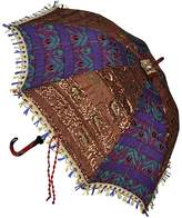 Lal Haveli Sequins Work Design Silk Rajasthani Patio Umbrella 24 X 28 Inches