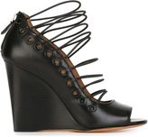 Givenchy lace-up wedge sandals