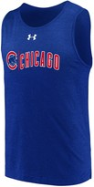 Under Armour Men's Royal Chicago Cubs Dual Logo Performance Tri-Blend Tank Top