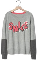 Gap Intarsia smile colorblock sweater