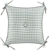 """Legacy 18""""Sq. Checked Pillow w/ Center Button/Corner Ties"""