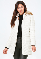 Bebe Faux Fur Puffer Coat