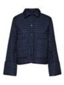 Selected Renea Navy Quilted Jacket - XS (8) | navy blue - Navy blue