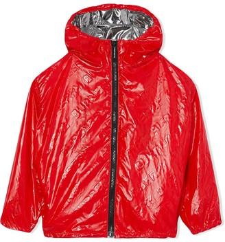 BURBERRY KIDS TEEN logo lightweight hooded jacket