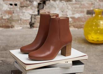 M.Moustache - Mathilde Cognac boots - 37   leather   cognac - Cognac