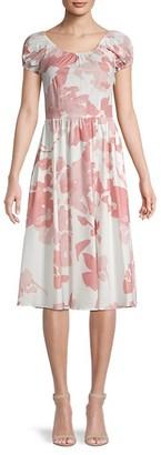 Caroline Constas Printed Stretch-Cotton Dress
