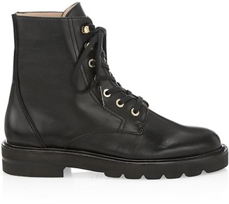 Stuart Weitzman Mila Lift Leather Combat Boots