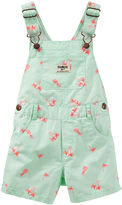 Osh Kosh Oshkosh Print Cotton Shortalls - Baby Girls 6m-24m