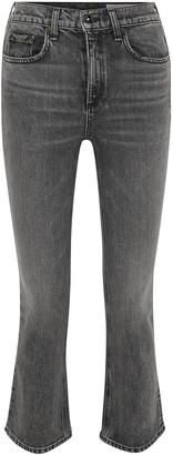 Rag & Bone Hana Cropped High-rise Bootcut Jeans