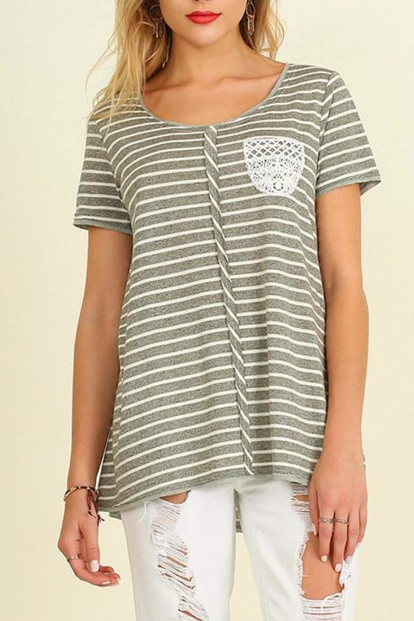 Umgee USA Casual Stripe Top