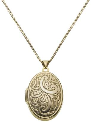 Moon & Back Silver Oval 2 Photo Locket 18 Inch Necklace