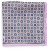 Robert Talbott Men's Medallion Silk Pocket Square
