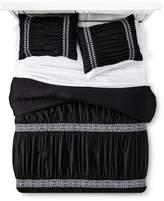 Xhilaration Black Embroidered Comforter Set