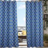 Commonwealth Home Fashions Arbor Indoor/Outdoor Grommet-Top Window Curtain Panel in Blue