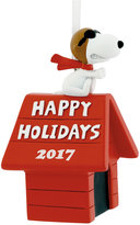 Hallmark Resin Figural Snoopy Flying Ace Doghouse Ornament