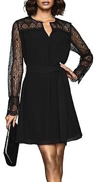 Reiss Callista Belted Lace Dress