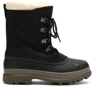 Sorel Caribou Stack Waterproof Nubuck Snow Boots - Black