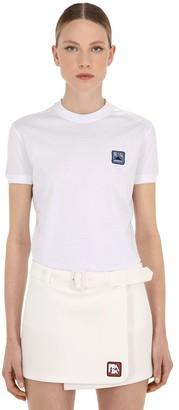 Prada Logo Patch Cotton Jersey T-shirt