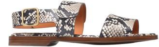 Chie Mihara Pythoned Flat Sandals