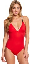Nautica Topsail Lace Up One Piece Swimsuit 8149119