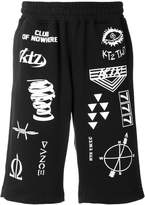 Kokon To Zai multi-stamp track shorts