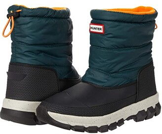 Hunter Insulated Snow Boot Short (Green Jasper/Geysers) Women's Shoes