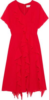 Mikael Aghal Ruffled Georgette Dress