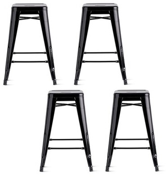 "17 Stories Wilner Bar & Counter Stool Seat Height: Counter Stool (26"" Seat Height), Pack Size: 4"