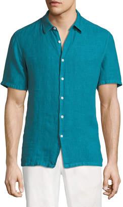 Theory Men's Irving Summer Linen Short-Sleeve Sport Shirt
