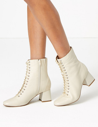 Marks and Spencer Leather Lace Up Ankle Boots