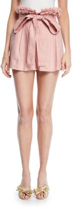 Alexis Jolan Pleated Linen Shorts
