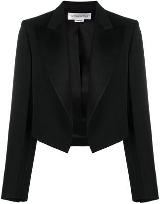 Victoria Beckham Cropped Open-Front Blazer