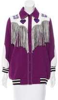Anna Sui Fringe-Accented Colorblock Jacket
