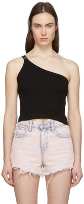 Aries Black Asymmetric Tank Top