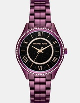 Michael Kors Lauryn Plum Analogue Watch