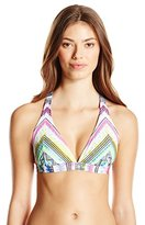 Jessica Simpson Women's Limelight X-Back Full-Support Triangle Bikni Top