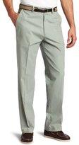 Haggar Men's Classic Belted Poplin Plain-Front Pant