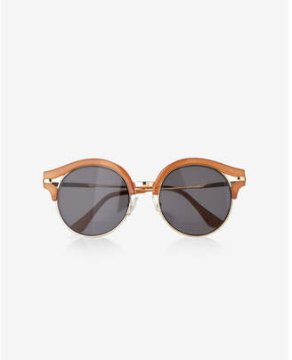 Express round lens wink sunglasses