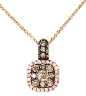 Effy Espresso 14Kt. Rose Gold Brown Diamond Pendant Necklace