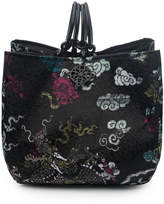 Josie Natori Dragon Jacquard Small Bag