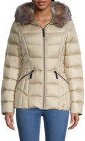 Thumbnail for your product : Dawn Levy Nikki Fox Fur-Trim Puffer Jacket