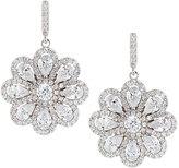FANTASIA CZ Crystal Flower Drop Earrings