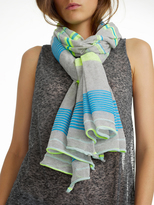White + Warren Featherweight Linen Striped Travel Wrap