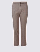 M&S Collection Jacquard Cropped Slim Leg Trousers